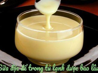 cách bảo quản sữa đặc